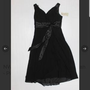 NWT EVAN PICCONE black evening dress